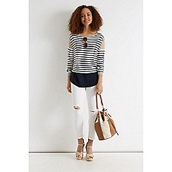 Oasis - Relaxed Colour Block Stripe Top