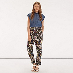 Oasis - Midnight garden print trouser