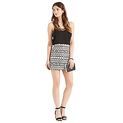 Oasis - Jacquard mini skirt