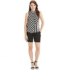 Oasis - Stripy drape blouse