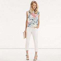 Oasis - Kimono orchid cropped top