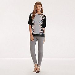 Oasis - Saphire placement print top