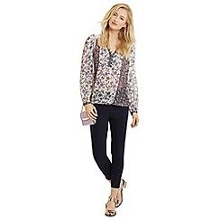 Oasis - Printed peasant blouse