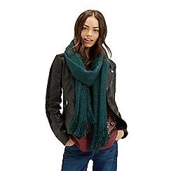 Oasis - Boucle fringed scarf