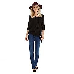 Oasis - Lace trim peasant blouse