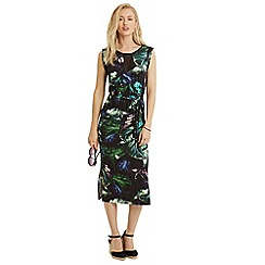Oasis - Tropical print midi dress