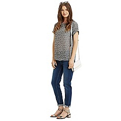 Oasis - Butterfly jacquard t-shirt