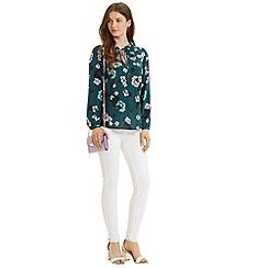 Oasis - Peony smocked blouse