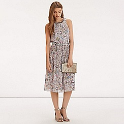 Oasis - V&a forest floral emb dress