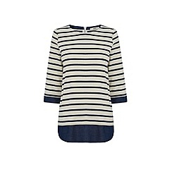 Oasis - Stripe shirt tails sweat