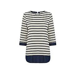 Oasis - Stripe shirt tails sweat
