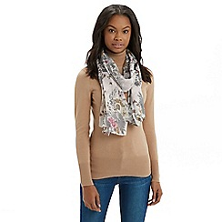 Oasis - Botanical print sequin scarf