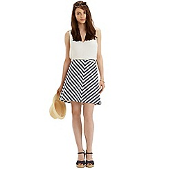 Oasis - Stripe a-line skirt