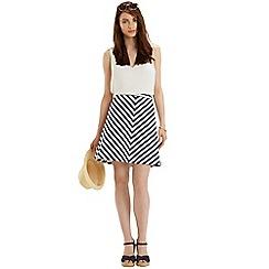 Oasis - Stripe a-line skirt