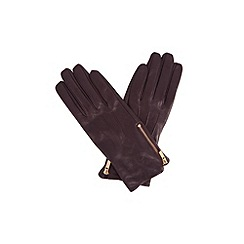 Oasis - Zip Leather Gloves