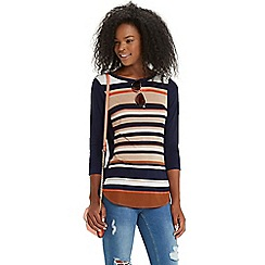 Oasis - Neutral bretton stripe sweat