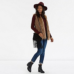 Oasis - Casual Long Faux Fur Gilet