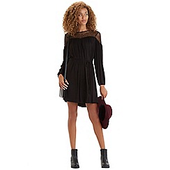 Oasis - Lace yoke peasant dress