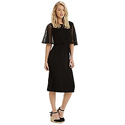 Oasis - Lace sleeve victoriana midi dress
