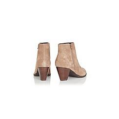 Oasis - Sara suede side zip boot