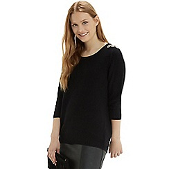 Oasis - Embellished shoulder jumper