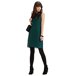 Oasis - Stripe mesh high neck dress