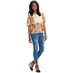 Oasis - Embroidered floral print top