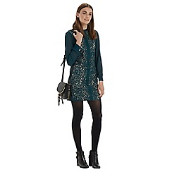 Oasis - Chiffon sleeve lace tunic dress