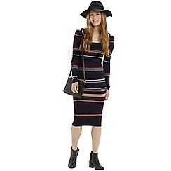 Oasis - 70s stripe rib tube dress