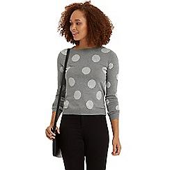Oasis - Spotty intarsia jumper