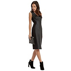 Oasis - Faux leather pencil dress