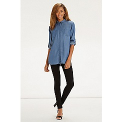 Oasis - Tori Soft Dark Denim Shirt