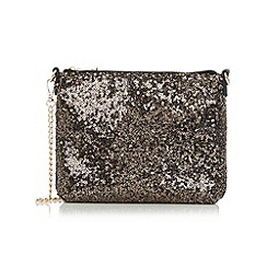 Oasis - Gold sequin clutch bag
