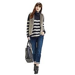 Oasis - Stripe cowl pheobe jumper