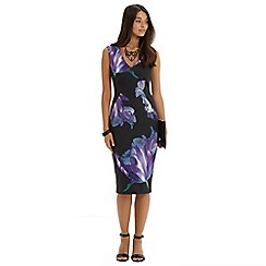 Oasis - Photographic floral pencil dress
