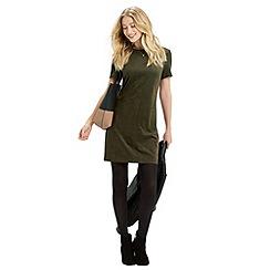 Oasis - Suedette front tshirt dress