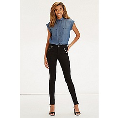 Oasis - Jade high-waisted biker jeans