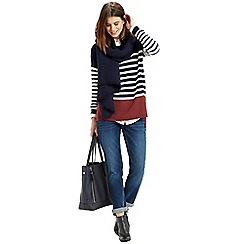 Oasis - Colourblock Stripe Jumper