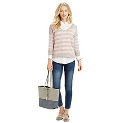 Oasis - V Neck Block Stripe Jumper