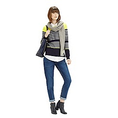 Oasis - Verigated Stripe Jumper