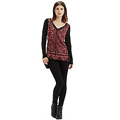 Oasis - Paisley Woven Front Top