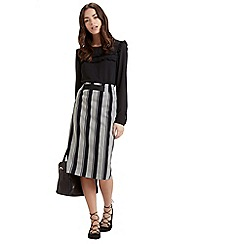 Oasis - Woven stripe skirt