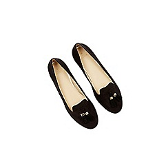 Oasis - Black tassel suedette slipper