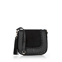 Oasis - Suede Patched Saddle Bag