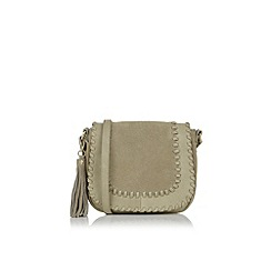 Oasis - Suede/pu whipstitch saddle bag