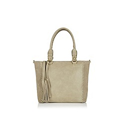 Oasis - Suede patch whipstitch shopper