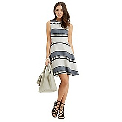 Oasis - Stripe linen skater dress