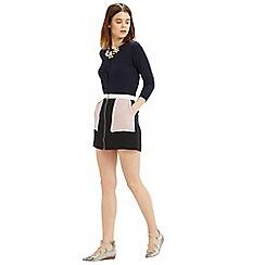 Oasis - Zip front colourblock skirt