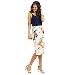 Oasis - Floral pencil skirt