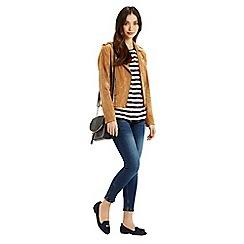 Oasis - Anchor Stripe Lace Trim T-Shirt